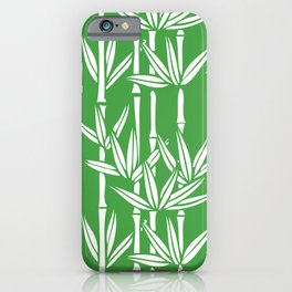 Bamboo Rainfall in Sullivan Green/White iPhone Case