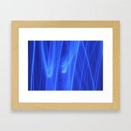 Blue Curtain 1 Framed Art Print