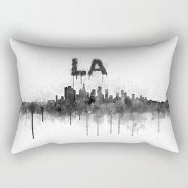 Los Angeles City Skyline HQ v5 BW Rectangular Pillow