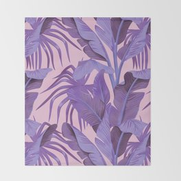 Tropical '17 - Starling [Banana Leaves] Throw Blanket
