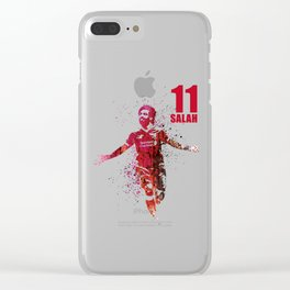 SPORTS ART #SALAH THE KING RED Clear iPhone Case