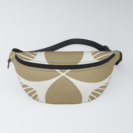Diamond Series Floral Diamond White on Gold Fanny Pack