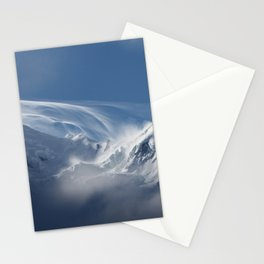 Snow Mont Blanc Mountains Stationery Cards