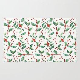 Festive Holly Pattern Rug