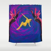 thrones Shower Curtains featuring Diamond Flash by Laura Nadeszhda