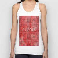 american psycho Tank Tops featuring American Psycho by Robert Payton