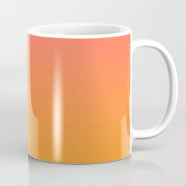 Pantone Living Coral 16-1546 & Pantone Radiant Yellow 15-1058 Ombre Gradient Blend Coffee Mug