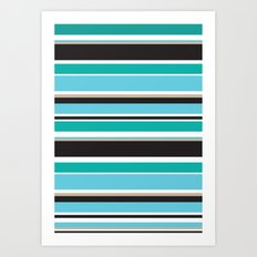 Vivid Stripes Art Print