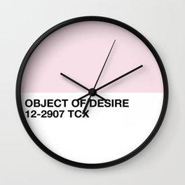 object of desire Wall Clock