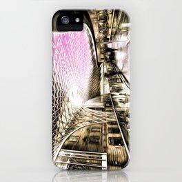 Futuristic London Art iPhone Case