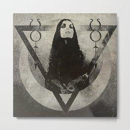 Invoking Tanit Grimoire Style Metal Print