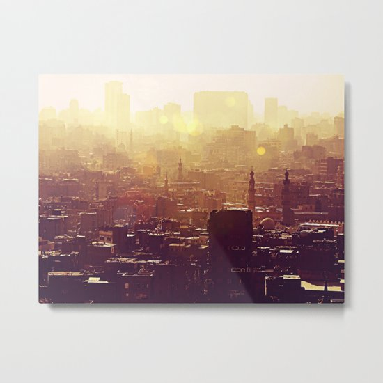 Sunset over Cairo Metal Print