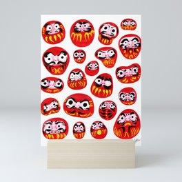 Japanese Daruma Characters Mini Art Print