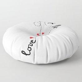 Love letter Floor Pillow