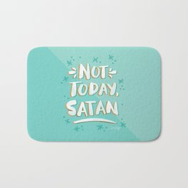 Not Today, Satan – Mint & Gold Palette Bath Mat
