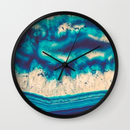 Blue Agate Water Element Wall Clock