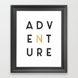 Adventure gold and marble Framed Art Print