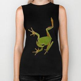 European Green Tree Frog Isolated Biker Tank