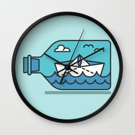 Little boat Wall Clock