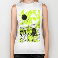 depression Biker Tanks featuring Depression on a Lonely Planet by MAKE ME SOME ART