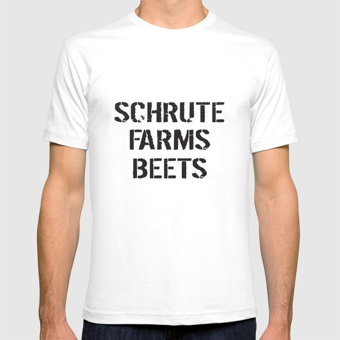 9b298f778 Schrute Farms Beets Adult Funny Humor Tv Countryside Dwight Farm T-Shirts T- shirt