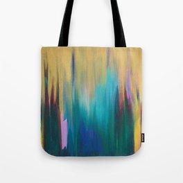 Green & Gold Abstract Tote Bag