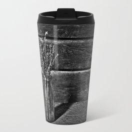 Milk Bottle Vase B&W Travel Mug