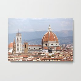 Florence cathedral dome photography Metal Print