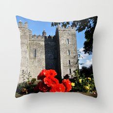 Bunratty Roses Throw Pillow