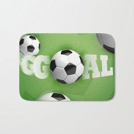 Soccer Ball Football Goal Bath Mat