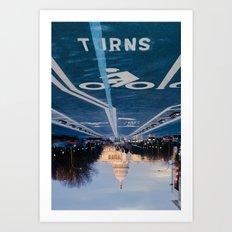 Turns Art Print