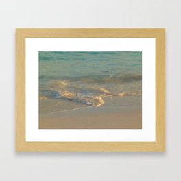 Golden Sunset at the Bermuda Beach Framed Art Print