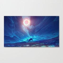 Stellar collision Canvas Print