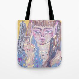 Pistol-whipped Tote Bag