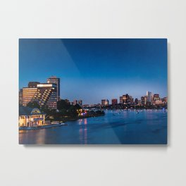 skyline of Boston Metal Print
