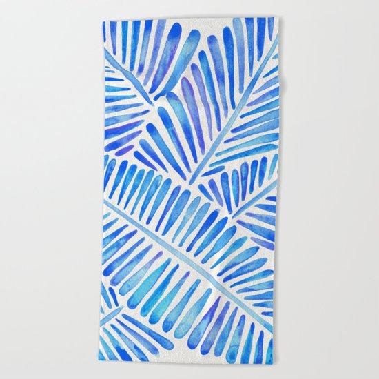 Tropical Banana Leaves – Blue Palette Beach Towel
