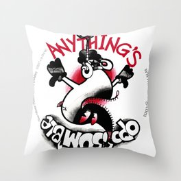 Anything's Oppossum'ble Throw Pillow