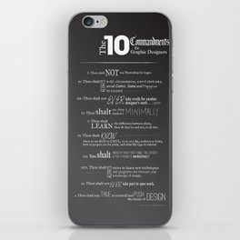 The 10 Commandments for Graphic Designers iPhone Skin