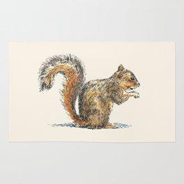 Sitting Squirrel Rug