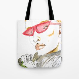 Fierce Face--Bowie inspired: #GenderNeutral #GenderEmpowerment Tote Bag