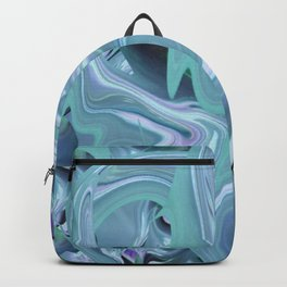 Turquoise and Lavender 3D Abtract Backpack