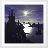 castle Art Prints featuring castle by giancarlo lunardon