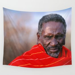 African Maasai Elder Wall Tapestry