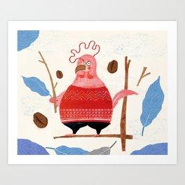 2017 chicken Art Print