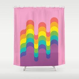 Design-y LGBTQ+ Pride Rainbow Shower Curtain
