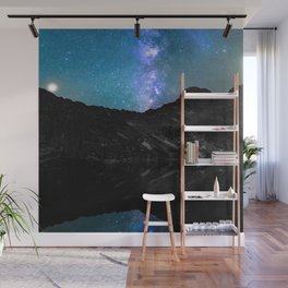 Milky Way Mountain Wall Mural