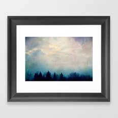 Peek-a-boo Trees Framed Art Print