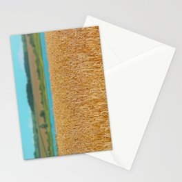 Golden Corn by the Turquoise Water Stationery Cards