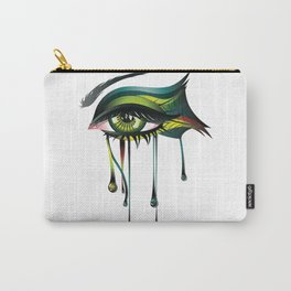 Carnival style green eye Carry-All Pouch