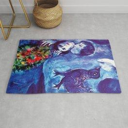 Marc Chagall, Le Paisage Bleu 1949 Artwork, Posters Tshirts Prints Bags Men Women Kids Rug